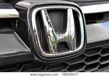 An Image of a Honda logo - Bielefeld/Germany - 07/23/2017