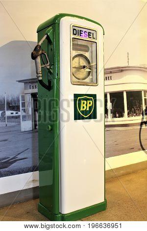 An image of a vintage BP patrol station - Bielefeld/Germany - 07/23/2017