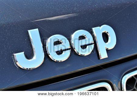 An image of a Jeep Logo - Bielefeld/Germany - 07/23/2017