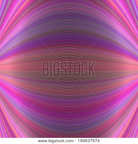 Symmetrical abstract dynamic background from thin curved lines in pink tones - vector illustration