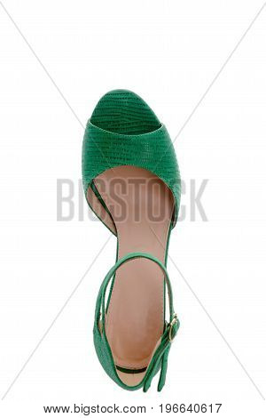 an amazing green sandals with original double clasp