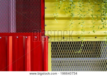 Background wall zinc sheets. metallic background for use.