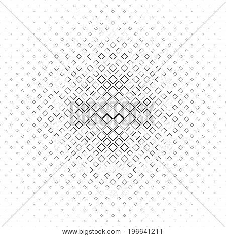 Black and white abstract square pattern background - monochromatic vector illustration from diagonal squares