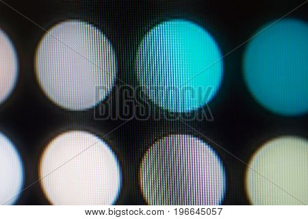 Light emitting diodes nacro for LED display. Digital LED screen background