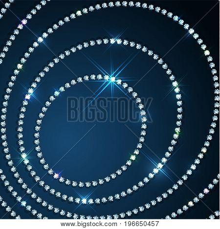 Diamond sparkling beads jewellery background - raster version