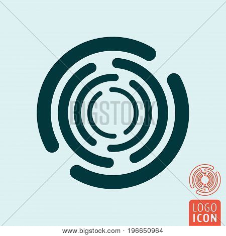 Circle rotate icon. Rotating round symbol. Vector illustration