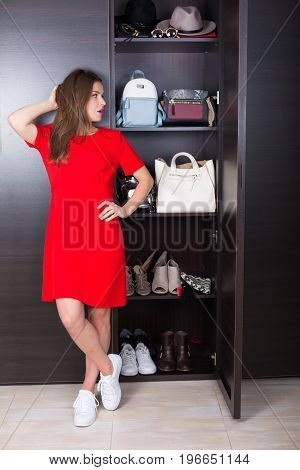 Woman With Her Wardrobe