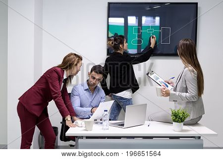 The People At Meeting In Coworking Space