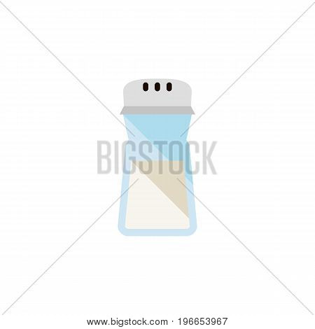 Salt Vector Element Can Be Used For Spice, Salt, Bottle Design Concept.  Isolated Spice Flat Icon.