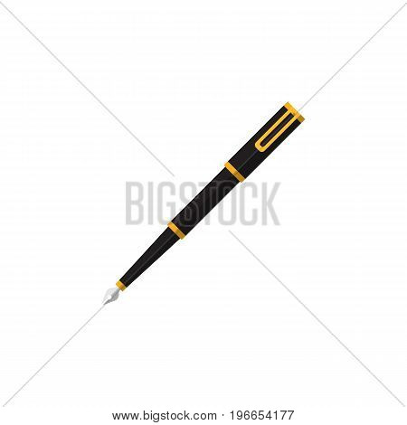 Nib Pen Vector Element Can Be Used For Nib, Pen, Writing Design Concept.  Isolated Writing Tool Flat Icon.
