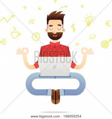 Programmer Cartoon Character