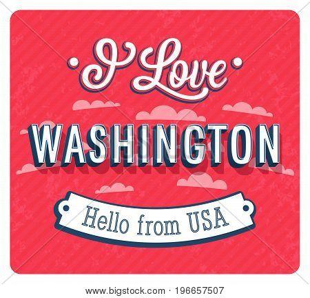 Vintage Greeting Card From Washington - Usa.