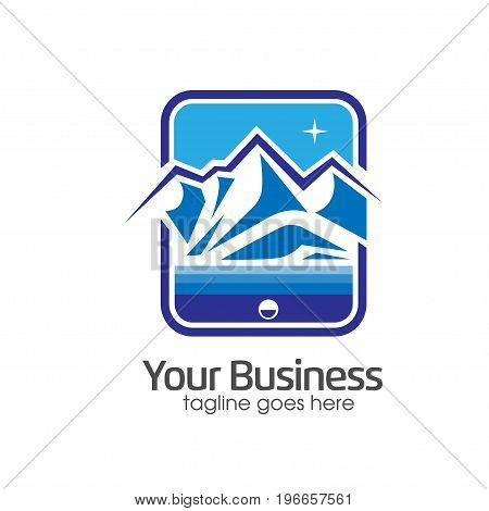 mountain logo, mountain icon,Capture nature through focus camera objective vector logo icon, outdoor sport