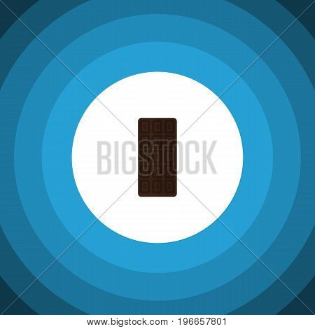 Confection Vector Element Can Be Used For Chocolate, Confection, Bar Design Concept.  Isolated Chocolate Bar Flat Icon.