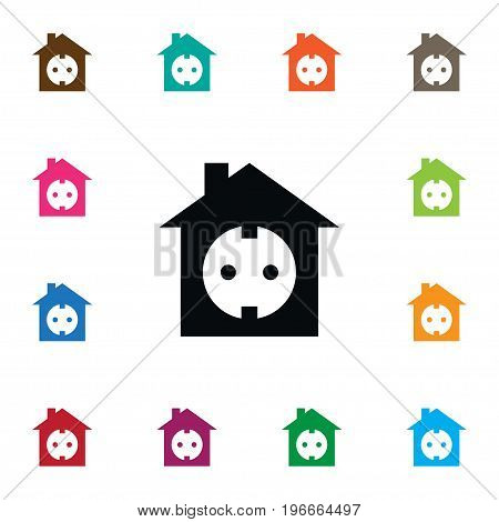Edifice Vector Element Can Be Used For Eco, Home, Socket Design Concept.  Isolated Socket Icon.