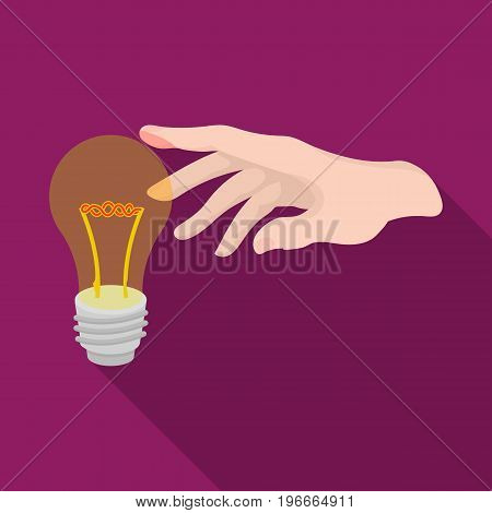 Replacement of an electric bulb. Incandescent lamp single icon in flat style vector symbol stock illustration .