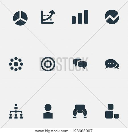 Elements Growing Up, Reload, Profile And Other Synonyms Buffering, Reload And Loading.  Vector Illustration Set Of Simple Presentation Icons.