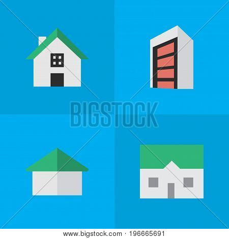 Elements House, Architecture, Home And Other Synonyms Building, House And Construction.  Vector Illustration Set Of Simple Estate Icons.