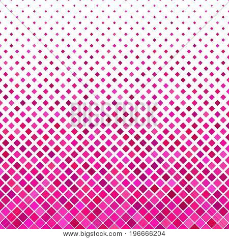 Color abstract square pattern background - geometrical vector graphic design from diagonal squares in pink tones