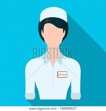 Medical staff in the hospital. Medicine single icon in flat style vector symbol stock illustration .