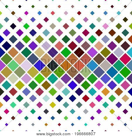 Abstract colorful diagonal square pattern background - geometric vector graphic from squares
