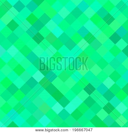 Colored square pattern background - geometrical vector illustration from diagonal squares in green tones