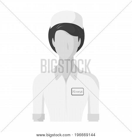 Medical staff in the hospital. Medicine single icon in monochrome style vector symbol stock illustration .