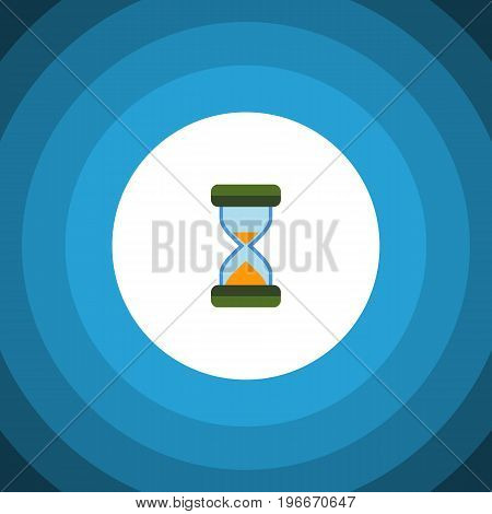Hourglass Vector Element Can Be Used For Hourglass, Sandglass, Timer Design Concept.  Isolated Waiting Flat Icon.