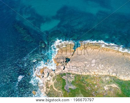 Photo of Aerial View Ocean Coastal Landscape Portugal