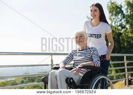 My hearts calling. Gorgeous committed confident girl helping elderly people living their lives to the fullest while providing all needed assistance