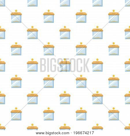 Donation box pattern seamless repeat in cartoon style vector illustration