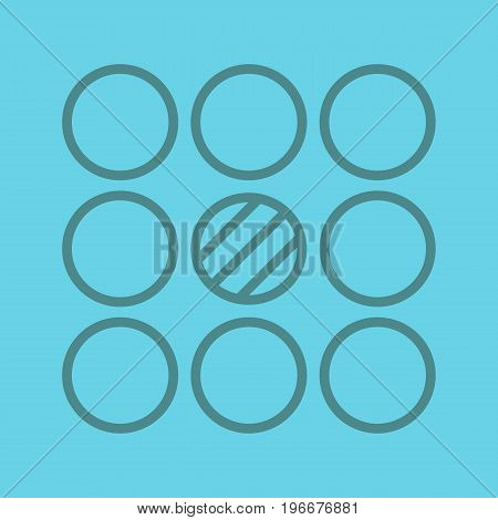 Contradictory linear icon. Abstract metaphor. Thin line outline symbols on color background. Vector illustration