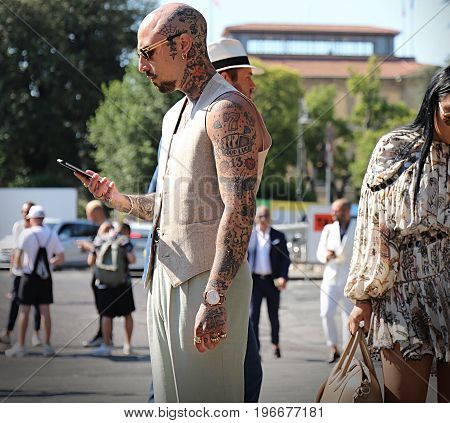 FLORENCE- 13 June 2017 Roberto Malizia on the street during the Pitti