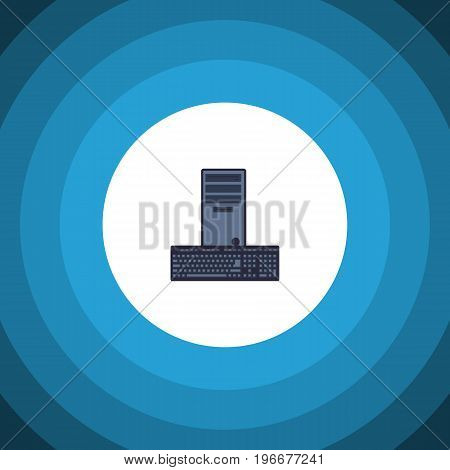 Processor Vector Element Can Be Used For Processor, Keyboard, Computer Design Concept.  Isolated Keyboard Flat Icon.
