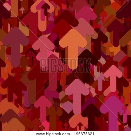 Seamless chaotic arrow background pattern - vector design from dark rounded forward arrows with shadow effect