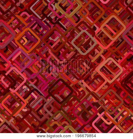Seamless abstract geometric square pattern background - vector illustration from diagonal squares in dark tones