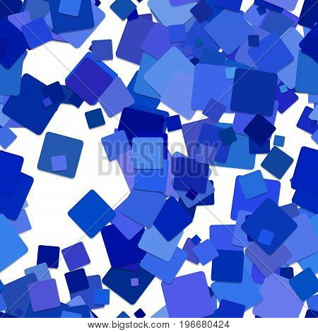 Seamless abstract geometrical square pattern background - vector design from rotated blue squares