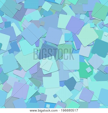 Light blue seamless abstract geometrical square pattern background - vector design from rotated squares