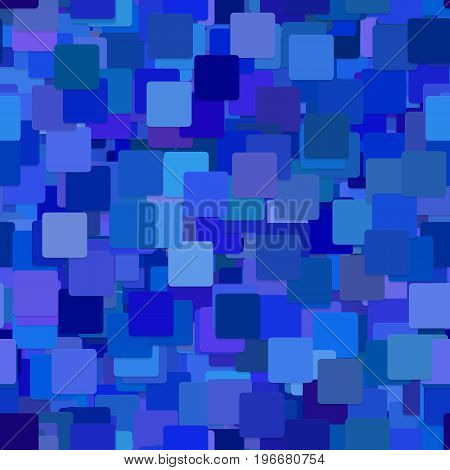 Repeating abstract geometric square pattern background - vector graphic design from blue squares