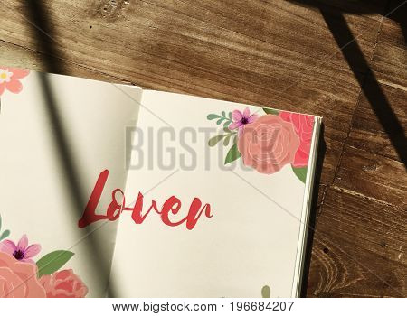 Lover Letter Message Words Graphic