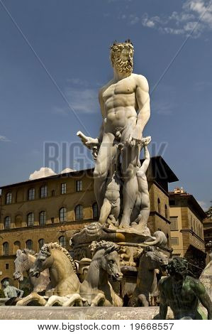 Neptune Fountain Florence Italy