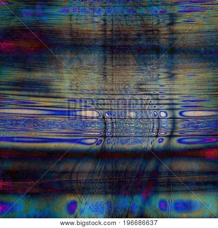 Colorful designed grunge background. With different color patterns: purple (violet); green; brown; blue; red (orange); cyan