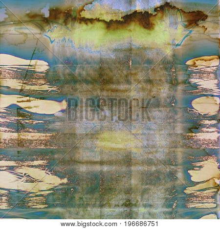 Veined grunge background or scratched texture with vintage feeling and different color patterns: yellow (beige); brown; gray; green; blue; cyan