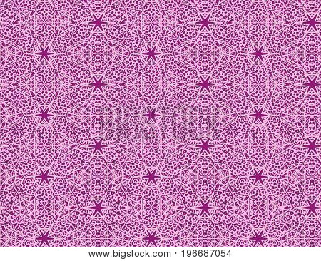 Seamless pink floral lace on vinous background