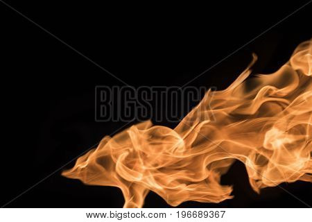 Flame of fire on a black background