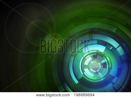 Green And Blue Abstract Target