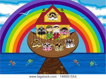 Ark And Rainbow Scene