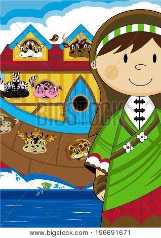 Cute Noahs Wife And Ark