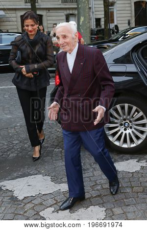PARIS, FRANCE - JULY 04:  Charles Aznavour attends Vogue Foundation Dinner  as part of Paris Fashion Week  Haute Couture Fall/Winter 2017-2018 July 4, 2017  Paris, France
