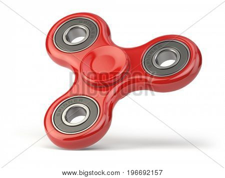 Fidget finger spinner stress, anxiety relief toy isolated on white backround. 3d illustration